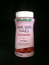 New Nature's Bounty Hair Skin & Nails Strawberry Gummies w/ Biotin Vitamin C & E