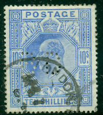 GREAT BRITAIN SG-265, SCOTT # 141 USED PERFIN, VERY FINE, GREAT PRICE!