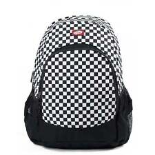 VANS Van Doren Backpack Black/White Check Schoolbag VN0C8YY28 OFFICIAL STOCKIEST