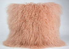 50cm*50cm NEW GENUINE MONGOLIAN SHEEPSKIN LAMB WOOL FUR CUSHION COVER