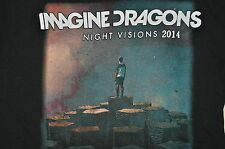 T-SHIRT LARGE IMAGINE DRAGONS NIGHT VISIONS 2014 GUEST THE NAKED AND FAMOUS