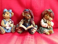 ~BOYDS BEARS~Sally Quignapple with Annie; Patricia with Buddy & Emund the Elf
