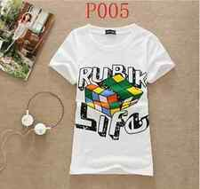 Womens Rubik Life  T-shirt Top summer hip hop size M - funky Christmas gift