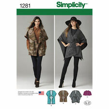 Simplicity 1281 Paper Sewing Pattern Misses 6-24 Jackets Cape or Capelet