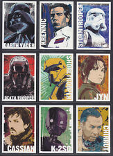 Topps Star Wars - Rogue One Series 1 - Character Icon Insert Set (11)
