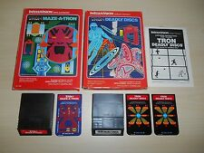 Tron Deadly Discs & Maze-A-Tron Games In Box Intellivision Disney