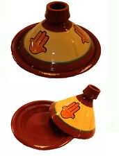 Moroccan Tajine Tagine Ceramic Clay Cook Pot Hand Terracotta Roaster Baker 8.5""