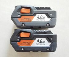 2 x Ridgid 4.0Ah 18 Volt Hyper Li-Ion Batteries For 18V AEG RIDGID Tools C3