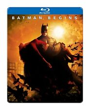 BATMAN BEGINS (2005 Steelbook) -  Blu Ray - Sealed Region free