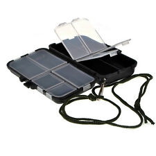 Mini Black Fishing Tackle Box Fishing Gear Accessories Case to Put Hooks Lures
