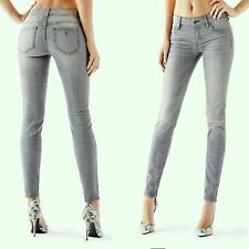 """Guess Power Curvy Skinny Mid Rise Jeans Gray Wash Sz 23 Short Inseam 28"""""""