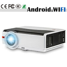 8000:1 HD LED Home Cinema Projector Android Wifi 1080p Movie Audio HDMI USB VGA