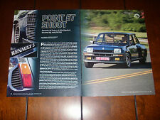1984 RENAULT R5 TURBO - ORIGINAL 2008 ARTICLE
