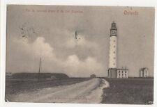 Vue du Nouveau Phare & Fort Napoleon Ostende Belgium 1904 Postcard 336a  ^
