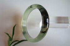 Very Rare Large Flat Green Glittering Jade Bangle Bracelet 63mm/2.48""