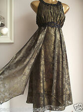 MONSOON CARLITA GOLD BRONZE BLACK EMBELLISHED GRECIAN WEDDING OCCASION DRESS 20