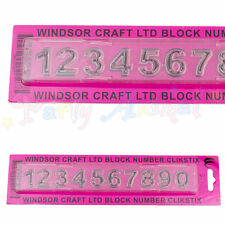 WINDSOR CLIKSTIX Block Numbers Case Cutter Numerals