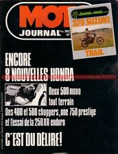 MOTO JOURNAL  382 SUZUKI SP 370 HONDA XR 250 Z CX 500 CM 400 CB 750 K 1978