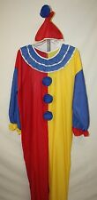 Unisex Men's Women's Halloween Fantasy Clown Costume w/Hat Size Large