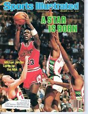 1984 Sports Illustrated, Basketball magazine, Michael Jordan, Chicago Bulls ~ Fr