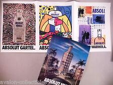 Absolut Vodka Four-Page PRINT AD - 1992 ~~ Warhola, Miami, Gartel, Britto