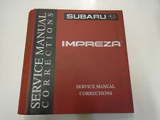 Subaru Impreza Service Manual Corrections BINDER ONLY W/TABS FACTORY OEM