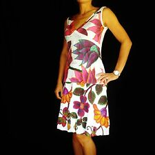 New Desigual Multi-Color Sleeveless Bubbled Floral Sequin Embroiderry Dress M