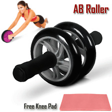 AB Abdominal Waist Workout Exercise Fitness Home Gym Wheel Roller Wheels KneePad