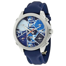 Jacob and Co. Five Time Zone Blue Camouflage Dial Mens Watch JC-8