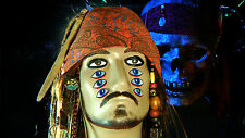 JACK SPARROW WIG PIRATES of Caribbean Style WITH BANDANA BEADS DREADLOCKS