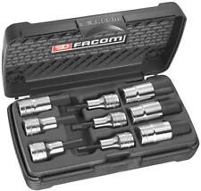 "Facom 1/2"" Drive Metric Hexagon Hex Key 9pc Socket Set STM.J9  5mm to 19mm"