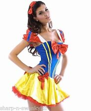 Ladies Sexy Snow White Disney Princess Sexy Fancy Dress Adult Costume Outfit