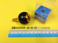 Surecatch Medium Size Black/Gold Handle Round Knob for Shimano Spinning Reels.
