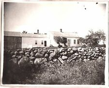 VINTAGE 1890'S SHILLABER HOUSE FARM BUILDING SANBORNTON NEW HAMPSHIRE OLD PHOTO