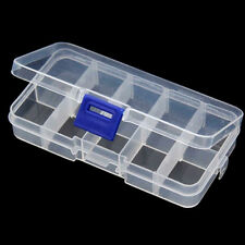 Removable Clear Multi-Compartment Storage Box jewelry Sorting Box 10 Frame Kit