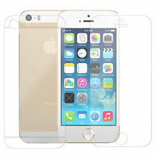Front + Back(3 Parts) Screen Protector Clear LCD Guard for iPhone 5 5S 5C 5G
