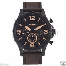 Fossil Original JR1487 Men's Nate Brown Leather Watch 50mm
