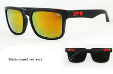 KEN BLOCK SUNGLASSES  MEN CYCLING SPY SUNGLASS BLACK RIMMED-RED WORD FULL KIT