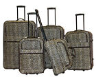 Leo Design 5-Piece Expandable Lightweight Rolling Softside Luggage Set