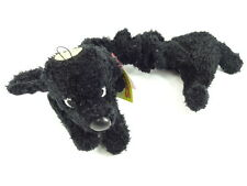 Plush Puppies Bungee Black Poodle Dog Toy