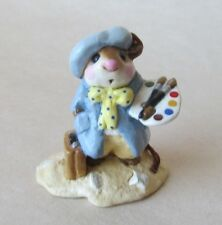 Wee Forest Folk ARTY MOUSE Blue Smock MINT CONDITION Retired M-071 Petersen