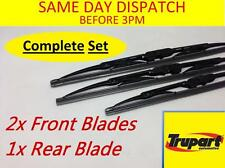 TOYOTA LAND CRUISER PRADO J9 96-02 FRONT REAR SCREEN WIPER BLADE X3 COMPLETE SET