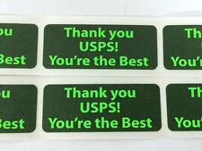 "250 1"" X 2.5"" THANK YOU USPS YOU'RE THE BEST Shipping Labels Stickers Green Neon"