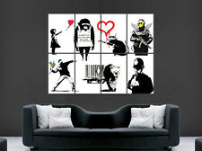 Banksy Graffiti poster STREET Wall Art Collage Immagine grande gigante