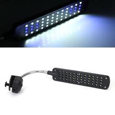 3W 48LEDs Lampe Clip Flexible Eclairage Lumière Blanc Bleu pour Aquarium Poisson