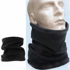 Unisex Polar Fleece Neck Warmer Thermal Snood Scarf Hat Ski Wear Snowboarding