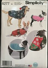 Simplicity Sewing Pattern 8277  Dog Coat Clothes  Hat Hats Sizes S-L