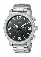 Fossil Men's JR1353 Nate Chronograph Stainless Steel Watch 50mm