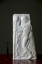 MARBLE Dancing Maenad relief carved marble artist sculpture bust statue