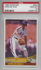 1984 DONRUSS # 600 CARLOS DIAZ ☆RARE☆ NEW YORK N.Y. NY METS PSA 10 GEM-MINT